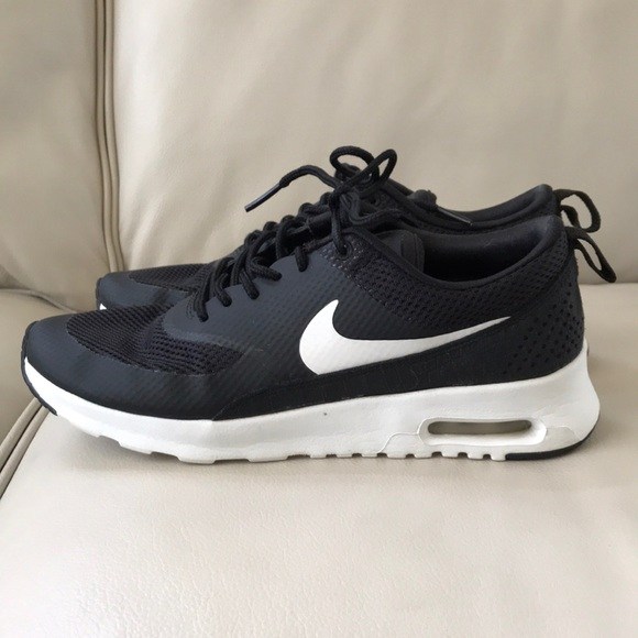 pretty nice 2451a 79943 NIKE air max THEA black white heel sneakers 6.5. M 5acfc4855512fdb3059398a7